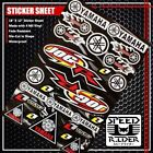 MICRO SPONSOR STICKER DECAL YAMAHA JOGR JOG JOG-R ONE INDUSTRIES MOTORCYCLE LOGO