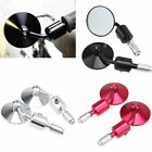 Motorcycle 7 8 Handlebar Bar End Rearview Mirrors Honda Kawasaki Suzuki Round