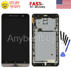 Black For ASUS Zenfone 6 A600CG A601CG LCD Touch Screen Digitizer Frame Tools