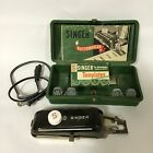 VINTAGE 1948 SINGER BUTTONHOLER W/MANUAL CASE 8 TEMPLATES 160506