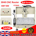 4AXIS CNC 3040 ROUTER ENGRAVER ENGRAVING MILLING CARVING CUTTER AIR COOLING WOOD