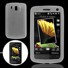 Clear White Silicone Skin Case Cover for HTC Touch HD