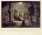 Interior of the Hut of a Chief 30x44 Karl Bodmer Native American Indian Art