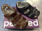 Pediped Grip n Go Sydney V Leather Fisherman Sandal Size 19 23 US Toddler 4 7