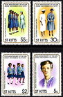 ST KITTS 1981 GIRL GUIDES MIRIAM PACKARD LADY POWELL MINT MNH SET