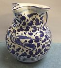 Deruta pottery-1Liter Pitcher With Arabesco Pattern.Made/painted by hand-Italy