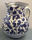 Deruta pottery-1/2Liter Pitcher With Arabesco Pattern.Made/painted by hand-Italy