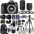 Canon EOS 80D Camera + 18 55mm stm + 75 300mm + 30 Piece Accessory Bundle