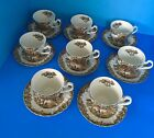 Set 8 Johnson Brothers Cups Saucers Heritage England