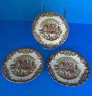 3 Johnson Brothers Heritage Saucers