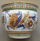 Deruta Pottery-10Hx12Winch plant Pot Raffaellesco. Made/painted by hand in Italy