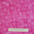 Fabric Traditions Tonal Pink Daisy Toss Cotton LAST 35