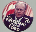 GERALD FORD FOR PRESIDENT WHITE LETTERS FLAG POLITICAL PIN