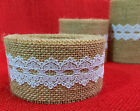 HighQuality Natural Jute Hessian Burlap Lace Ribbon Rustic Country Wedding Strap
