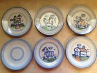 M A Hadley Bread Plates Lot of 6 Horse Cow Sheep Barn House Salad Lunch