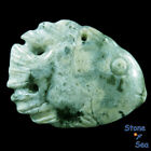 Hand Carved Fish  Natural Ocean Jasper Pendant DK04743