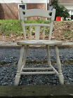 PICK UP ONLY Lot of 2 Antique Vintage Wood Wooden Maple Dining Chairs