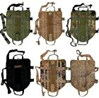 TACTICAL DOG VEST HARNESS K9 MOLLE ARMY HUNTING TRAINING MILITARY PATCH XS XL