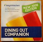 Weight Watchers Dining Out Companion 2008 Edition Book Weight Loss Diet Health