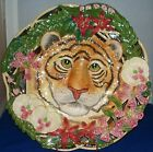 Fitz and Floyd Serengeti Tiger decorative plate/wall hanging signed EUC