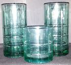 Vintage Anchor Hocking Blue-Green Drinking Glasses
