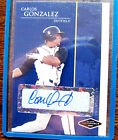 2006 JUST MINORS JUSTIFIABLE CARLOS GONZALEZ JF-9 Blue Parallel AUTOGRAPH ROOKIE