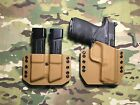 Coyote Tan Kydex Holster MP Full Size 9 40 357 w Mag Carrier