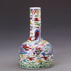 Perfect Chinese Antique Doucai Dragon Porcelain Vase with Mark
