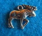 Pendant Moose Charm Wildlife Charm Antique Bronze And Silver Deer Charm Jewelry