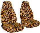 1987-2002 Jeep Wrangler Front Set Car Seat Covers In Zebra Designs