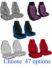1987 2002 Jeep Wrangler FRONT SET CAR Seat Covers IN ZEBRA DESIGNS