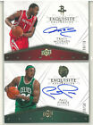 2008-09 UD Exquisite TRACY McGrady & PAUL PIERCE Flawless AUTO #50 50 & #23 50
