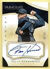 2014 Panini Immaculate Collection #98 Felix Hernandez On Card Autograph #23 25