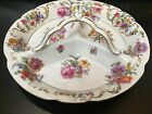 VINTAGE VICTORIA CZECHOSLOVAKIA PORCELAIN 3-SECTION DISH / PLATE W/ HANDLE
