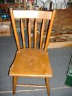 Early Farmhouse Chic Chair Vintage Antique Full Spindle Back  E173 PA Dutch  #2