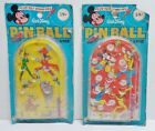 VINTAGE WALT DISNEY CHARACTER PINBALL LOT MICKEY MOUSE PETER PAN TINKERBELL HOOK