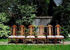 6 High Back Vintage Country French Provincial Cane Back Dining Chairs Excellent