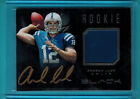 2012 12 ANDREW LUCK PANINI BLACK ROOKIE JERSEY GOLD AUTO PRIME #ED 17 25