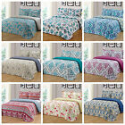 Sunrise 3Pc King Queen Size Floral Printed Quilt Bedspread Bedding Coverlet Set