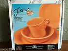 Fiesta 4 Piece Place Setting Tangerine Orange Homer Laughlin ***NIB***