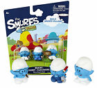 THE SMURFS MICRO VILLAGE 3-PACK: BRAINY-HANDY-CLOCKWORK NEW ON CARD