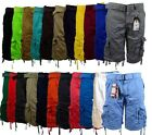 Mens Cargo Shorts with Belt Focus 32 34 36 38 40 42 44 Casual Short Black Red