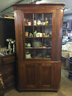 Antique Pine American Likely Pennsylvania Corner Cabinet Partial Interior Paint