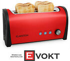 Klarstein Cambridge Long Two-Slot Toaster 1400W Red 10022989 Genuine Best Gift