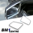 CHROME SILVER SIDE MIRROR RING TRIM SET FOR MERCEDES BENZ C E CLASS W204 W212