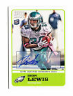 2011 TOPPS MAGIC DION LEWIS NEW ENGLAND PATRIOTS ROOKIE AUTOGRAPH AUTO EAGLES RC