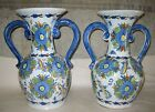 VTG Set x 2 GUERTES SEVILLA Urns-Spain Floral Pottery Handle Vase Pitcher Flower