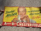 VINTAGE CHESTERFIELD CIGARETTE PAPER SIGN BOB HOPE VG CONDITION