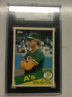 1984 Topps Tiffany Traded DON SUTTON HOF #116T SGC 96 MINT Dodgers Braves As