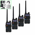 4-set BAOFENG UV-5R VHF/UHF Dual Band Two Way Radio Handheld Tranceiver+Earpiece